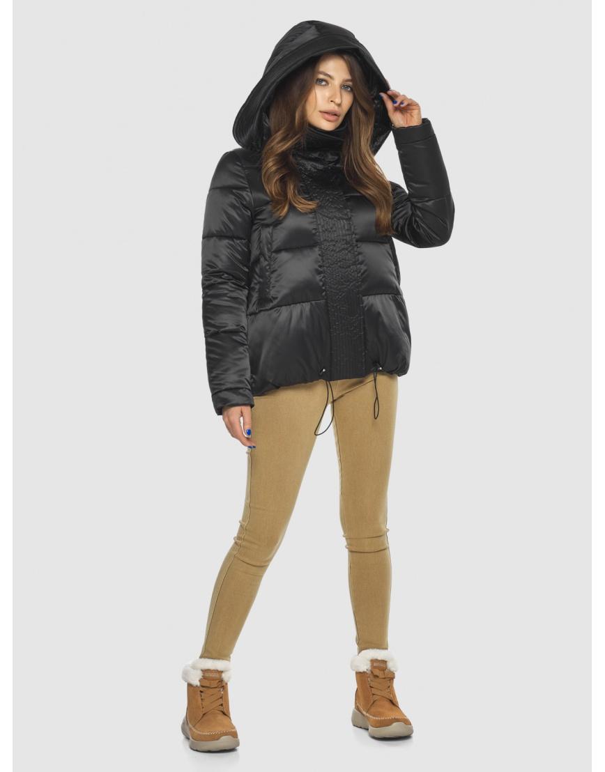 Чёрная куртка практичная женская Ajento 23952 фото 3