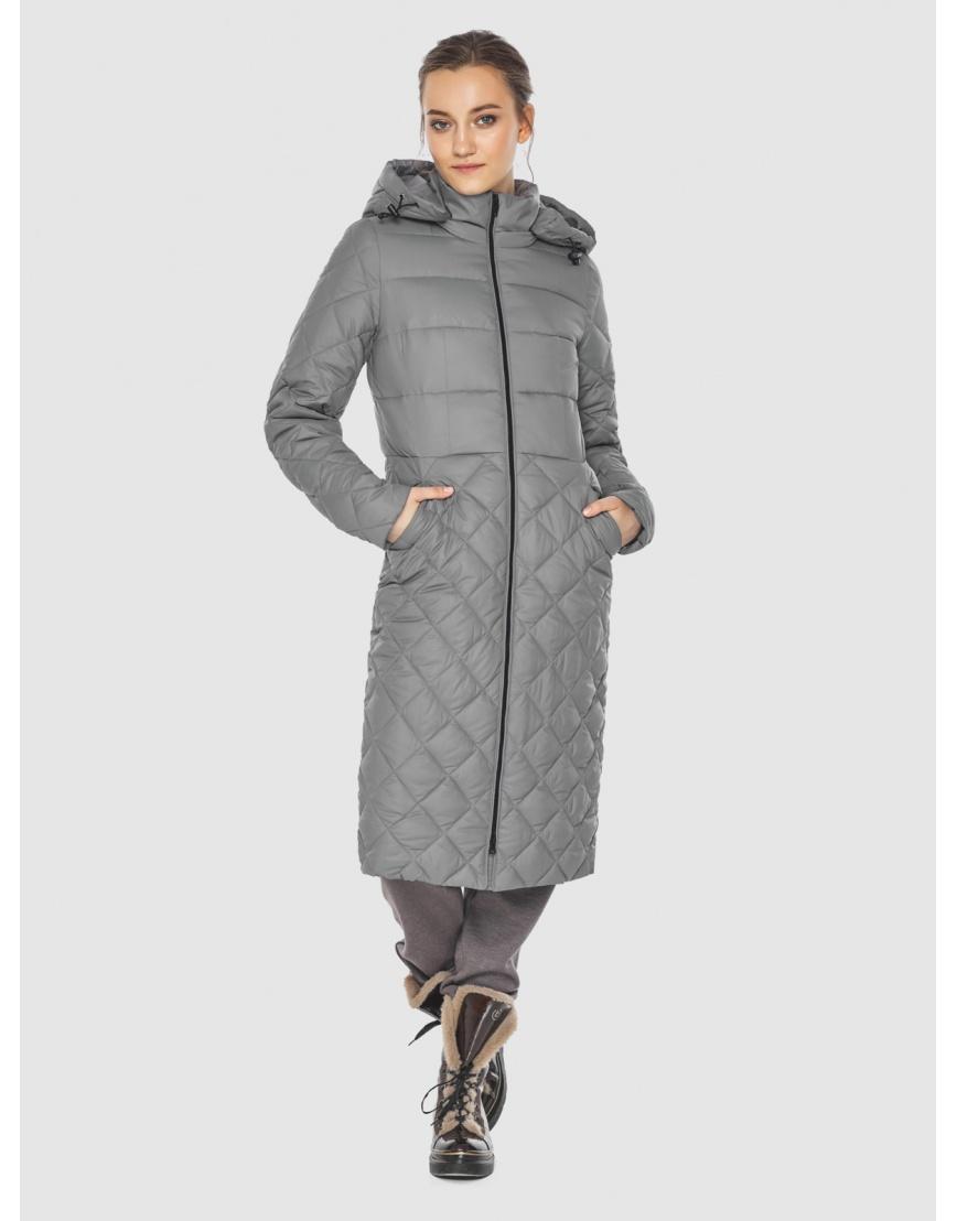 Элегантная женская куртка серая Wild Club 567-80 фото 2