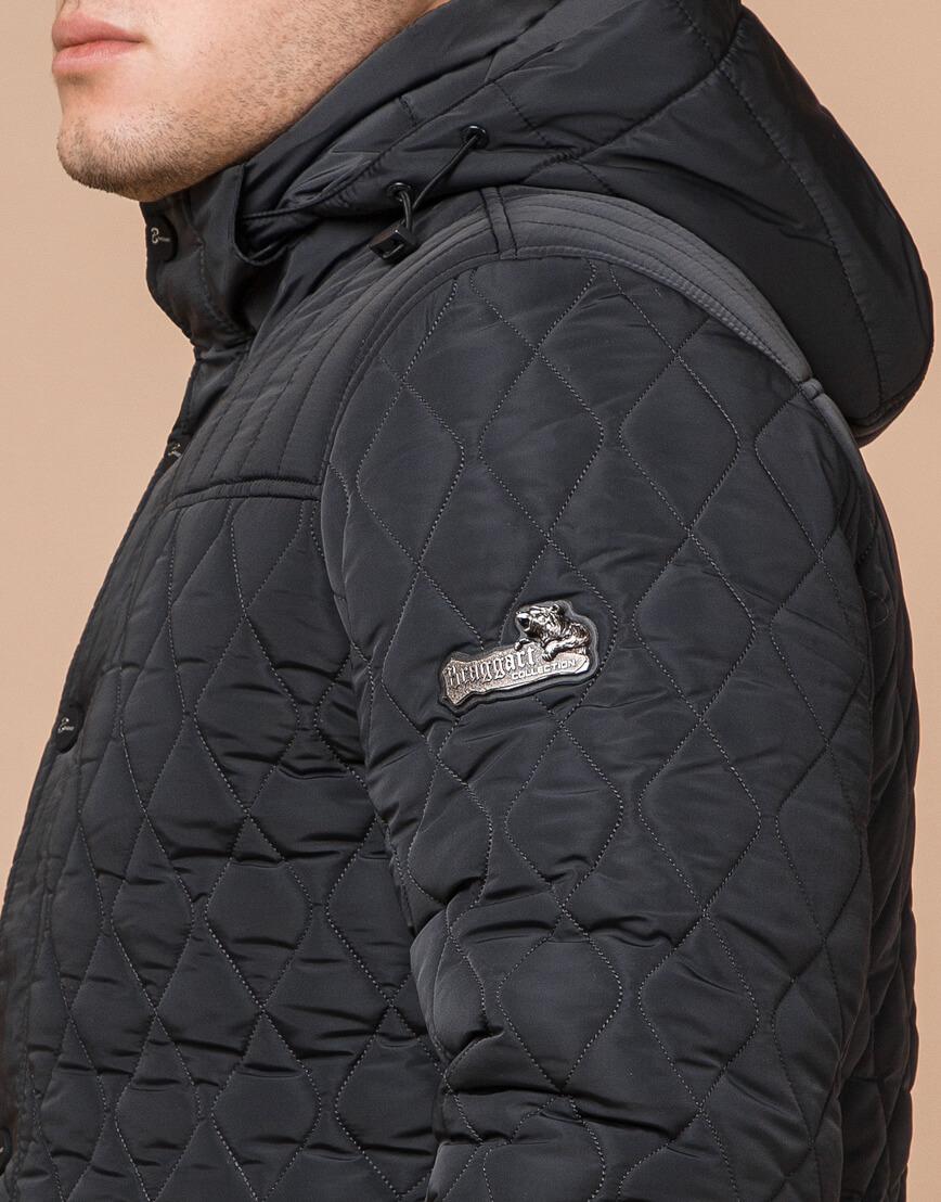 Графитовая мужская куртка зимняя модель 24534 оптом фото 6