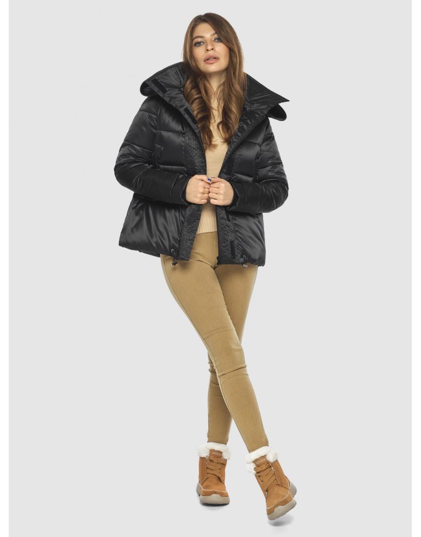 Чёрная куртка практичная женская Ajento 23952 фото 2