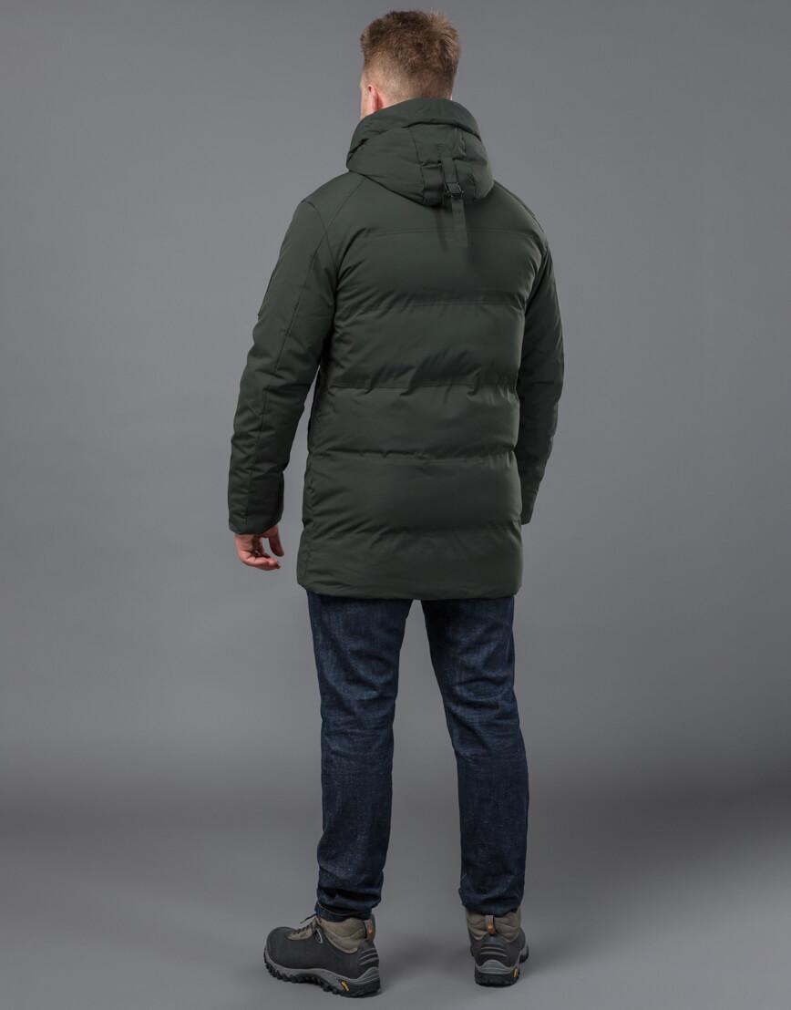 Качественная зимняя куртка темно-зеленого цвета модель 70911 фото 4