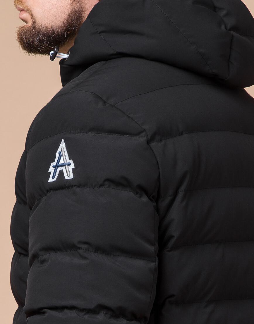 Стильная мужская куртка цвет черный-серебро модель 45115 фото 6