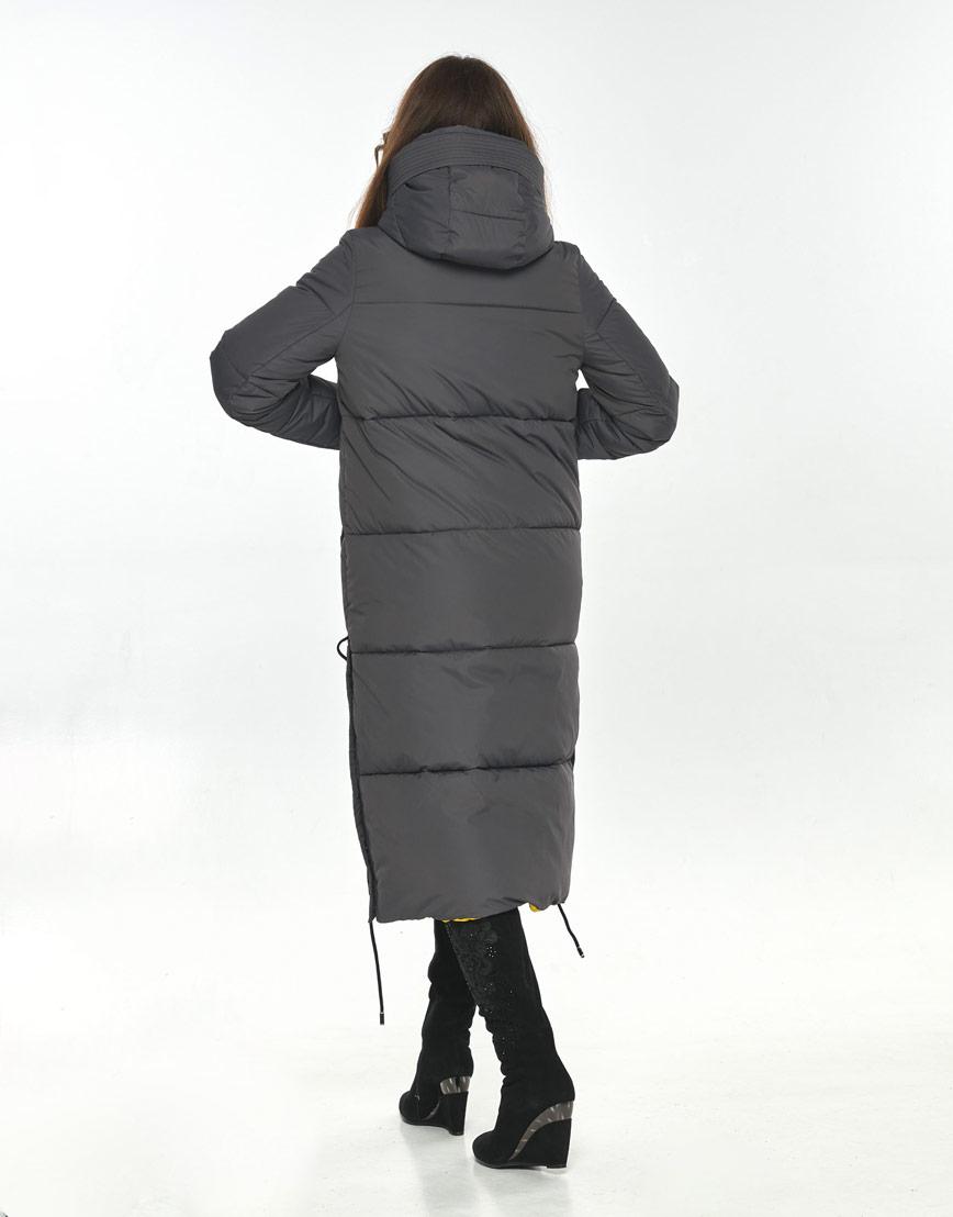 Куртка Ajento серая женская на зиму 23160 фото 3