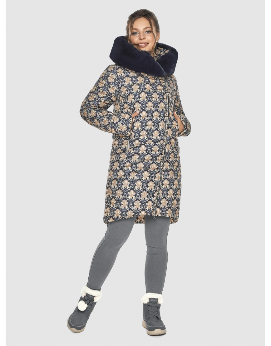 Стёганая куртка с рисунком подростковая Ajento для зимы 24138 фото 1