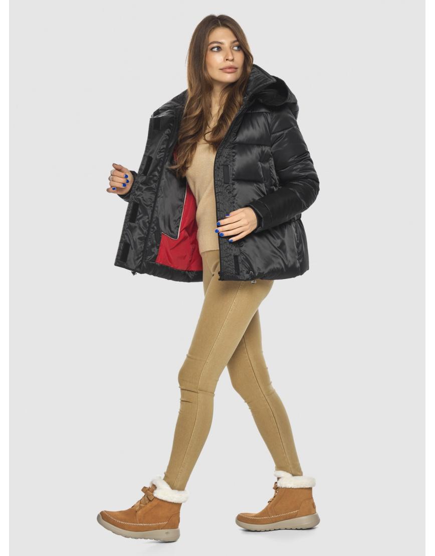 Чёрная куртка практичная женская Ajento 23952 фото 5