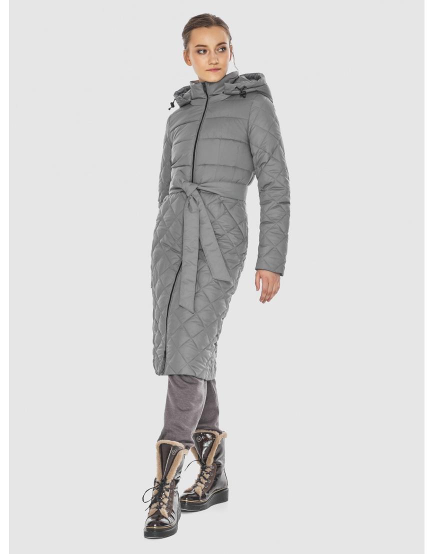 Элегантная женская куртка серая Wild Club 567-80 фото 6