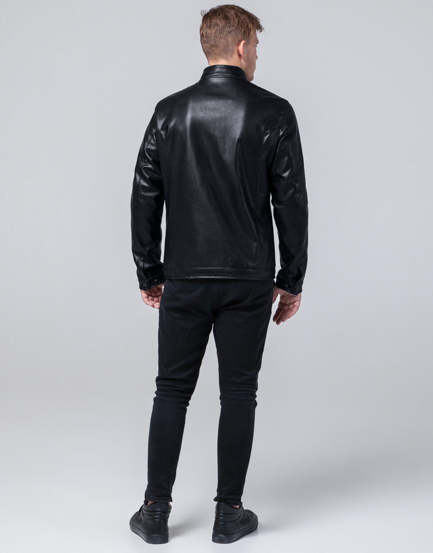 Куртка осенне-весенняя молодежная черного цвета модель 2193