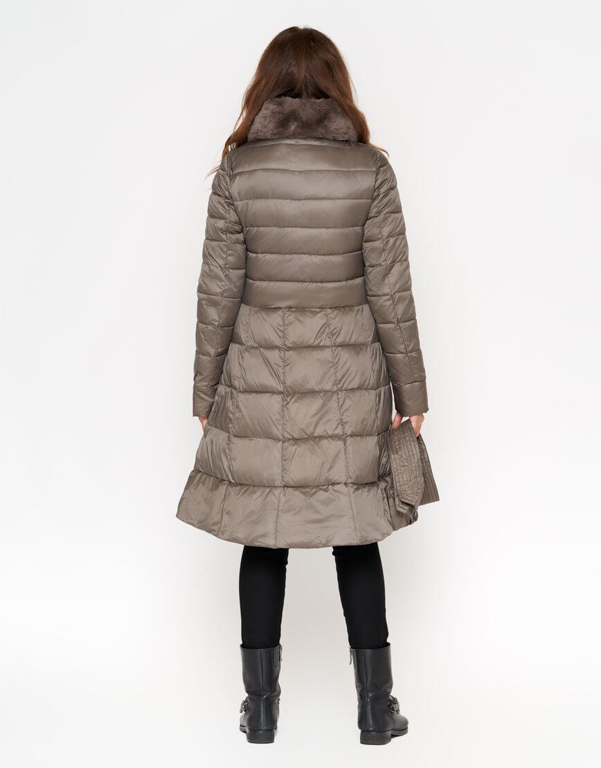 Куртка стильная женская цвет капучино модель 7319 фото 3