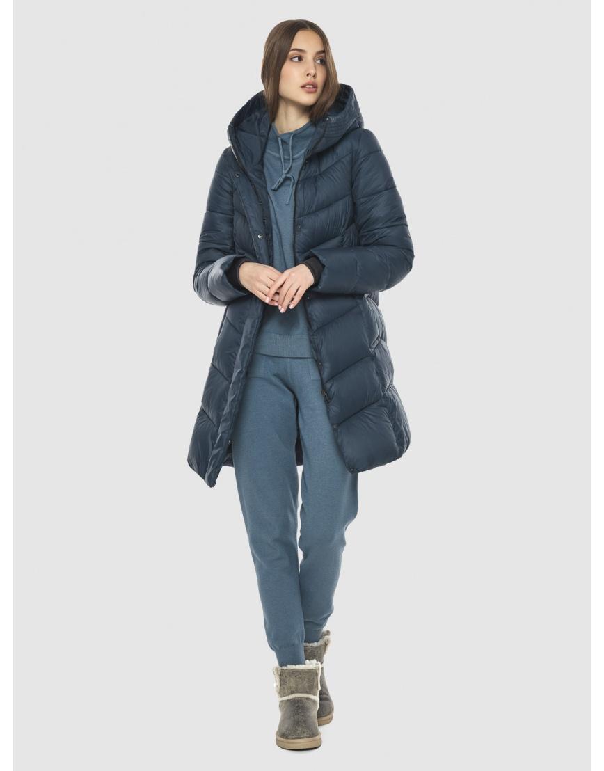 Женская куртка Vivacana средней длины синяя 7821/21 фото 2