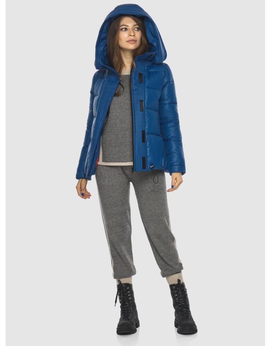 Брендовая короткая куртка женская Ajento синяя 23952 фото 6