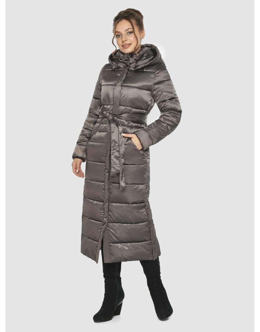 Практичная зимняя куртка подростковая Ajento капучиновая 21207  фото 3