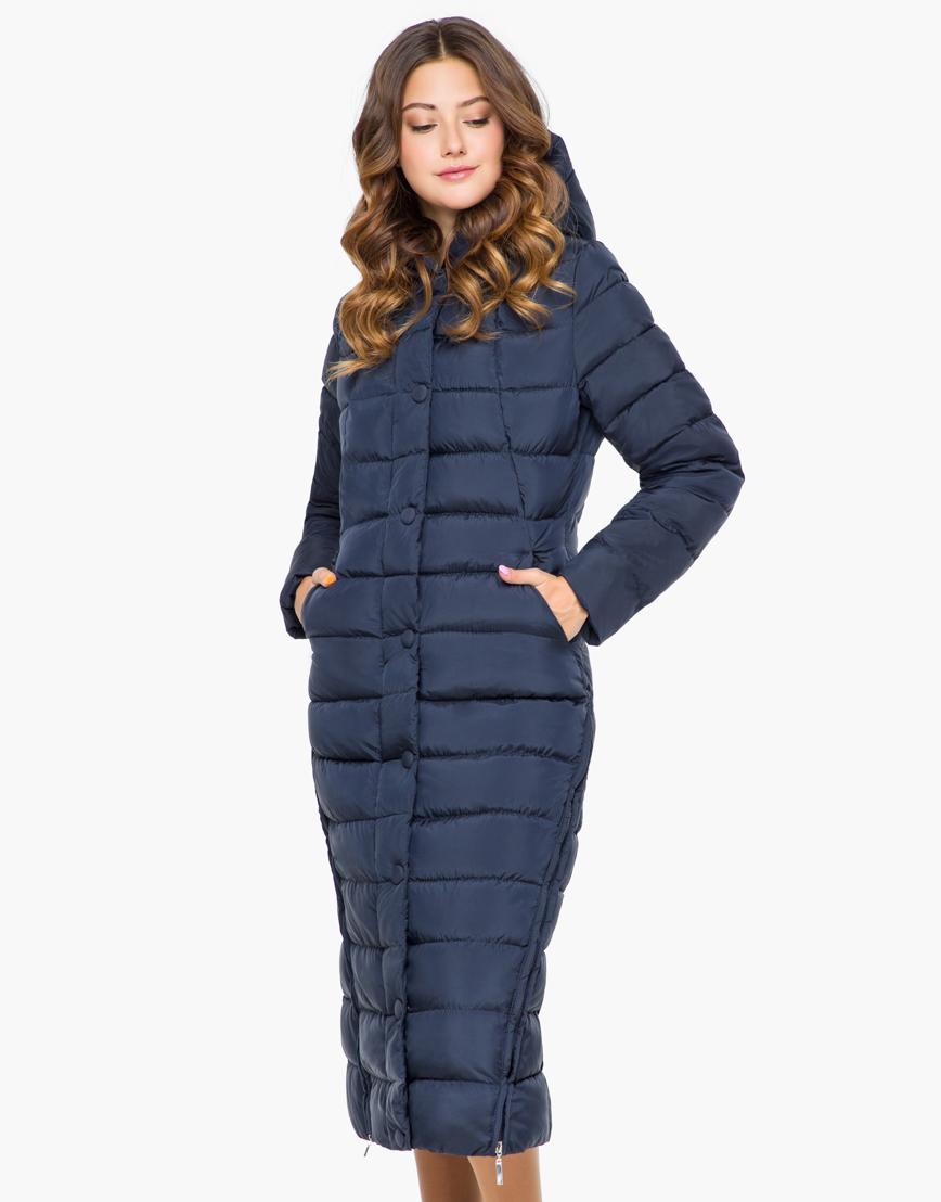 Синяя женская теплая куртка модель 925