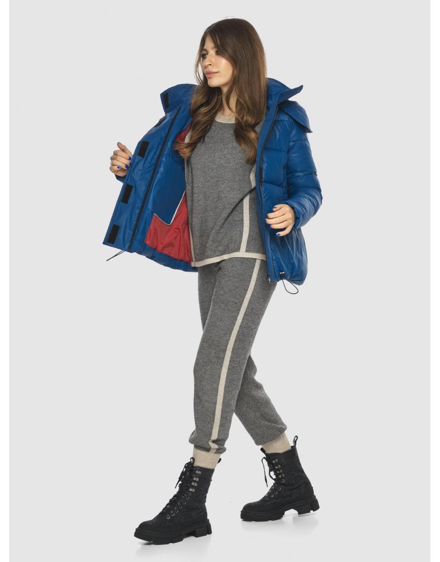 Брендовая короткая куртка женская Ajento синяя 23952 фото 2