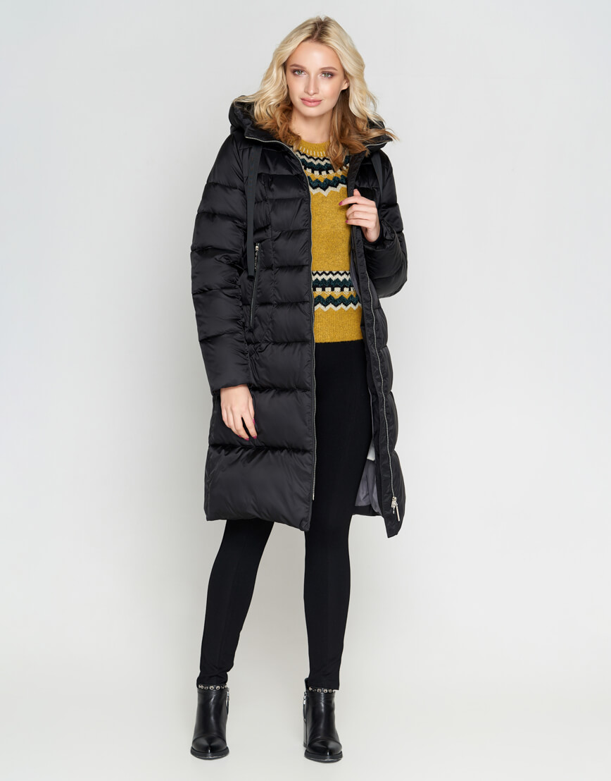 Черный зимний женский воздуховик Braggart модный модель 47250 фото 2