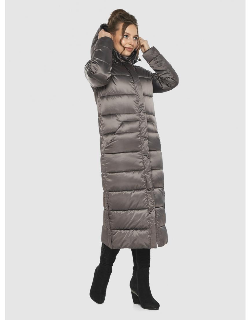 Практичная зимняя куртка подростковая Ajento капучиновая 21207  фото 5