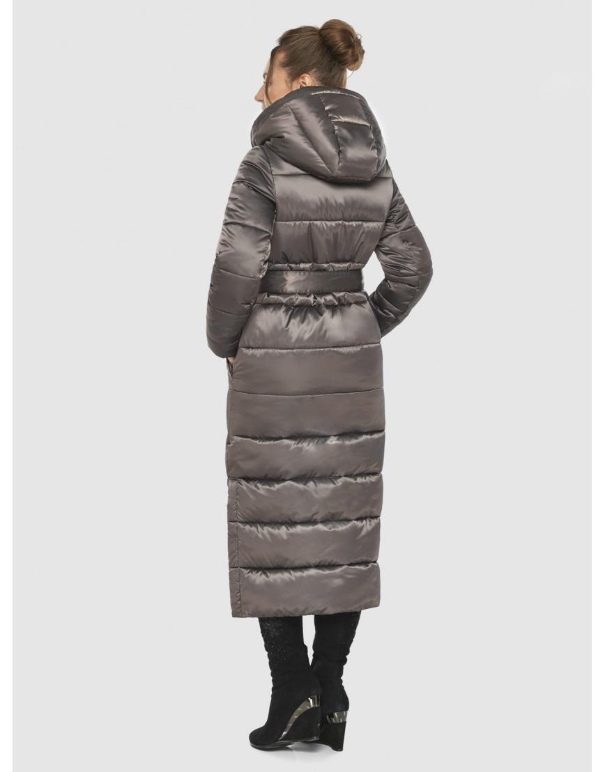 Практичная зимняя куртка подростковая Ajento капучиновая 21207  фото 4