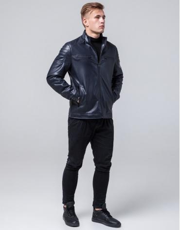 Короткая куртка темно-синяя осенне-весенняя модель 2612