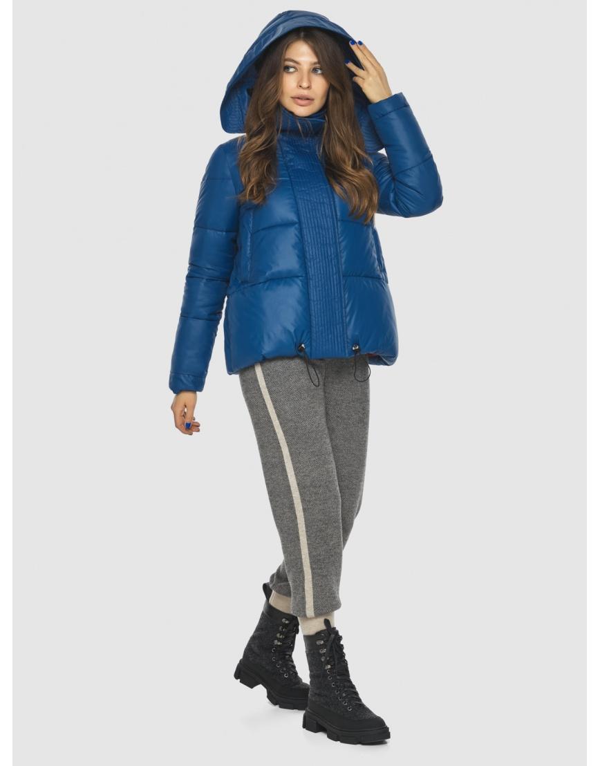 Брендовая короткая куртка женская Ajento синяя 23952 фото 3