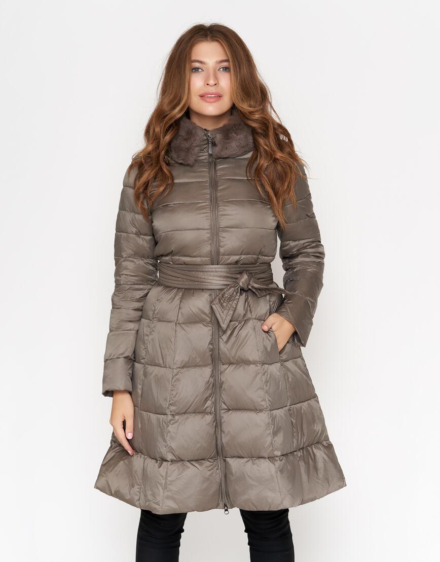 Куртка стильная женская цвет капучино модель 7319 фото 2