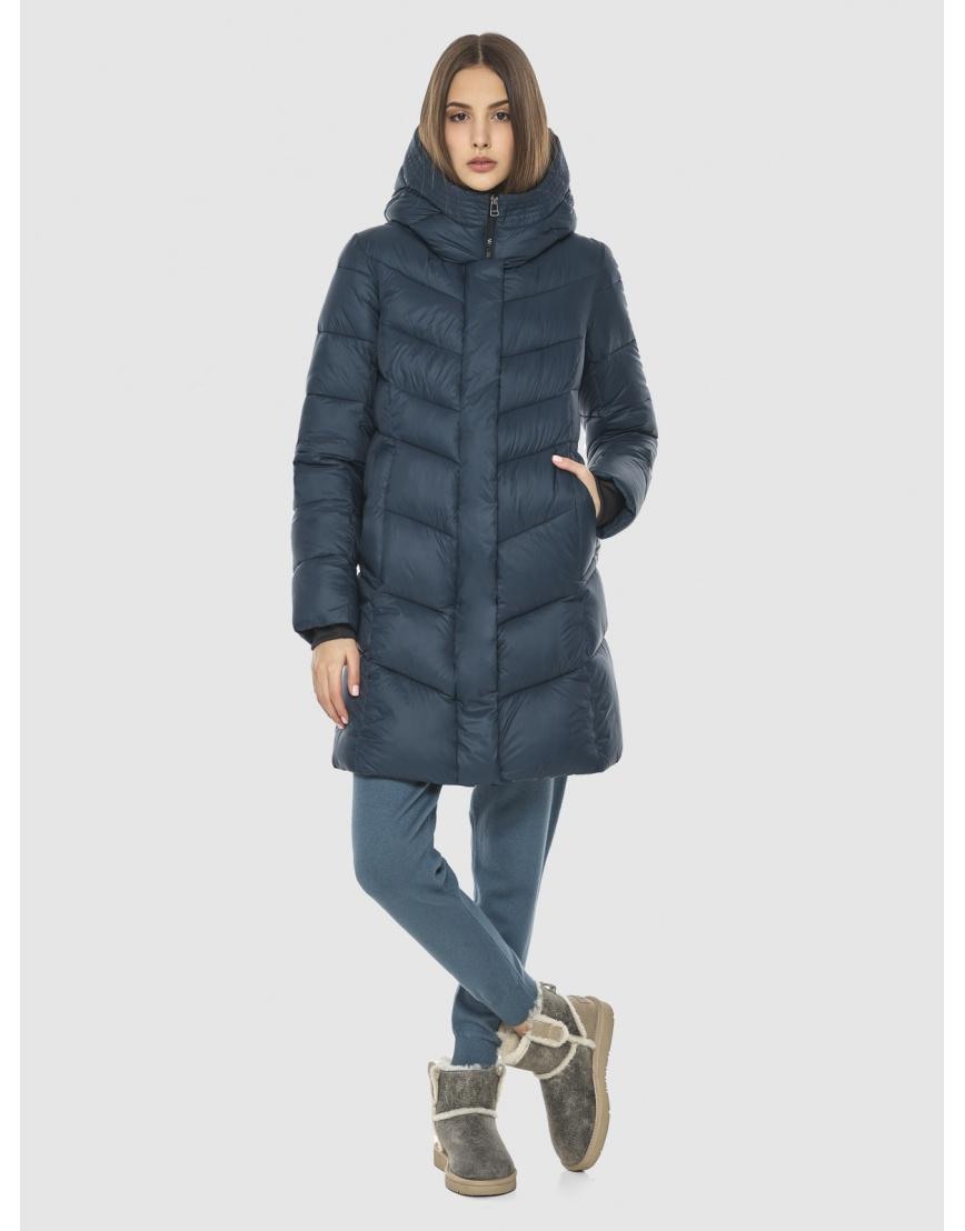 Женская куртка Vivacana средней длины синяя 7821/21 фото 1