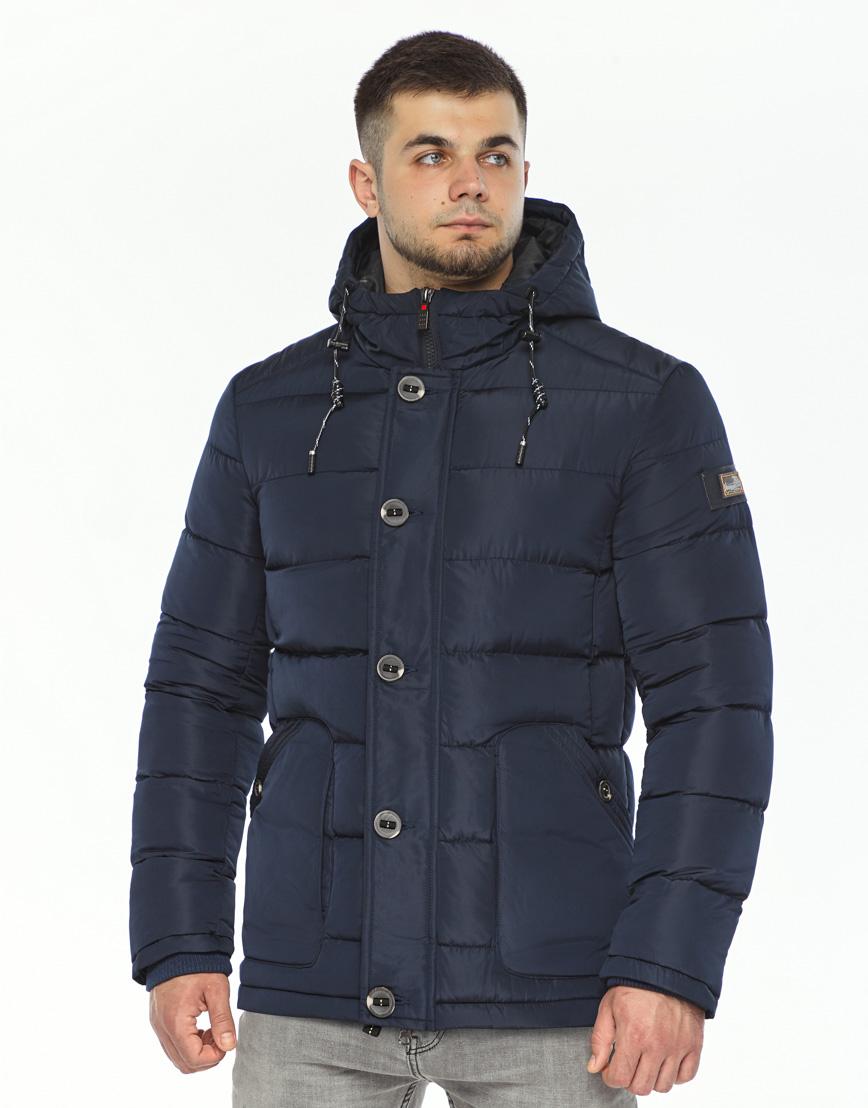 Темно-синяя куртка удобного фасона модель 44516 фото 2