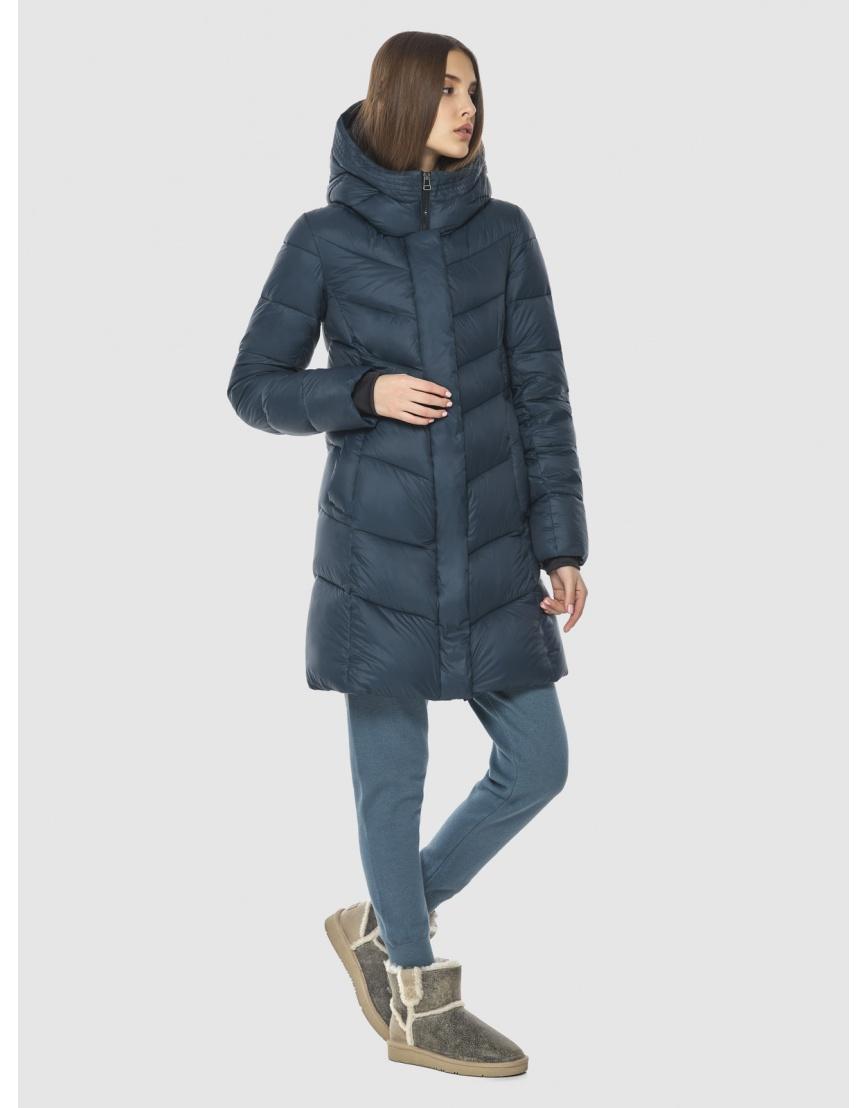 Женская куртка Vivacana средней длины синяя 7821/21 фото 5