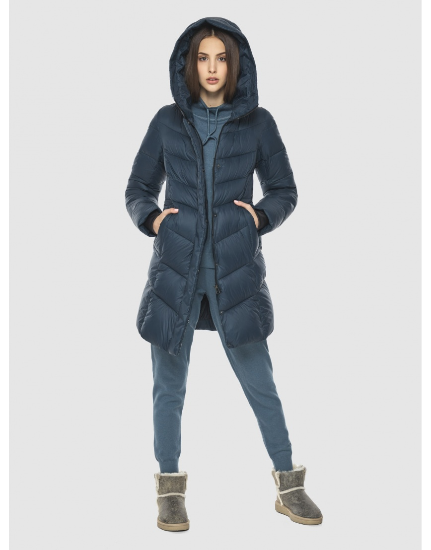 Женская куртка Vivacana средней длины синяя 7821/21 фото 6