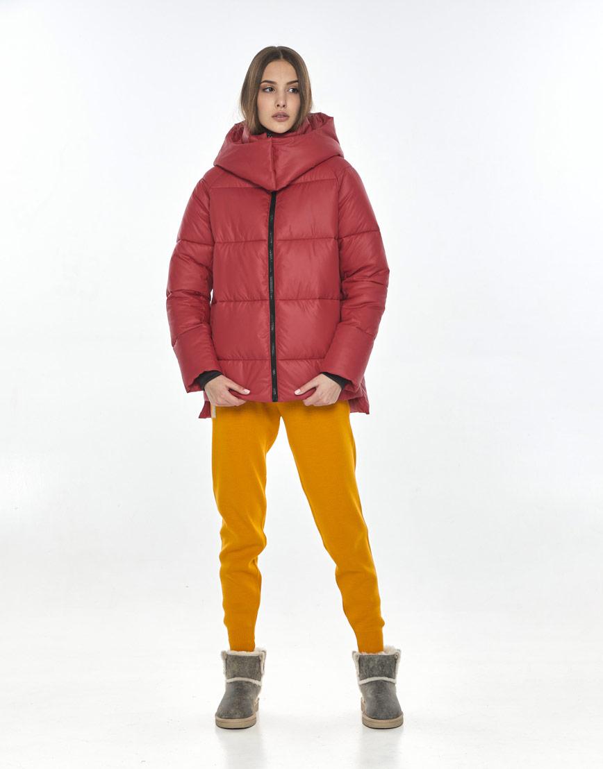 Короткая женская красная куртка Vivacana на осень 7354/21 фото 2