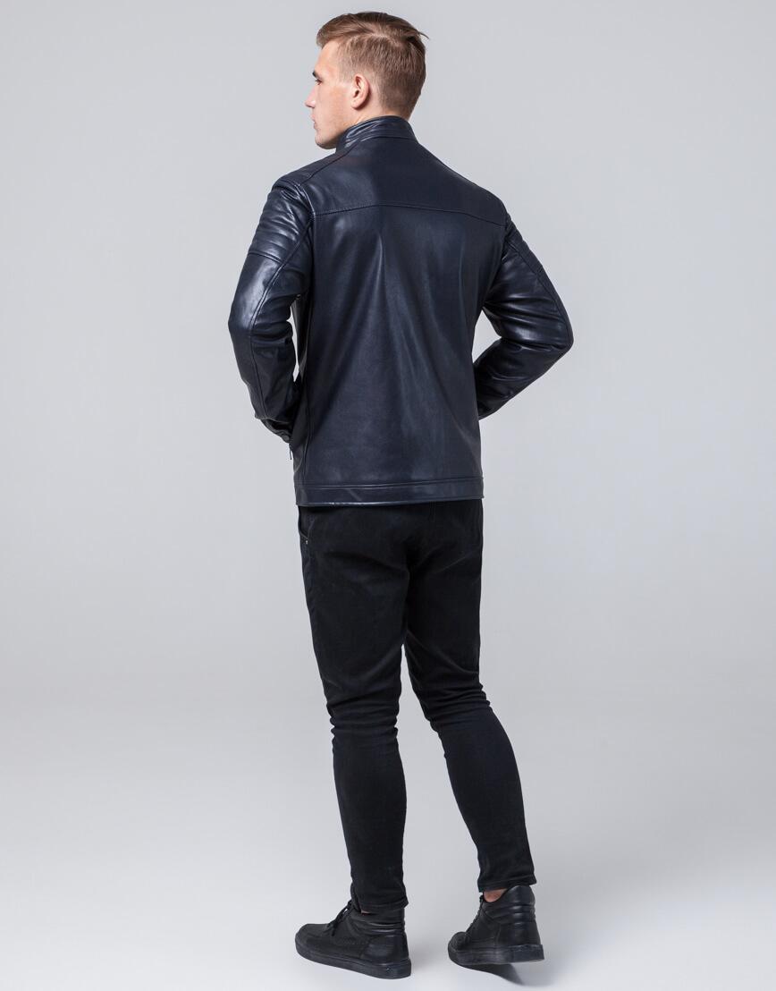 Короткая куртка темно-синяя осенне-весенняя модель 2612 фото 4