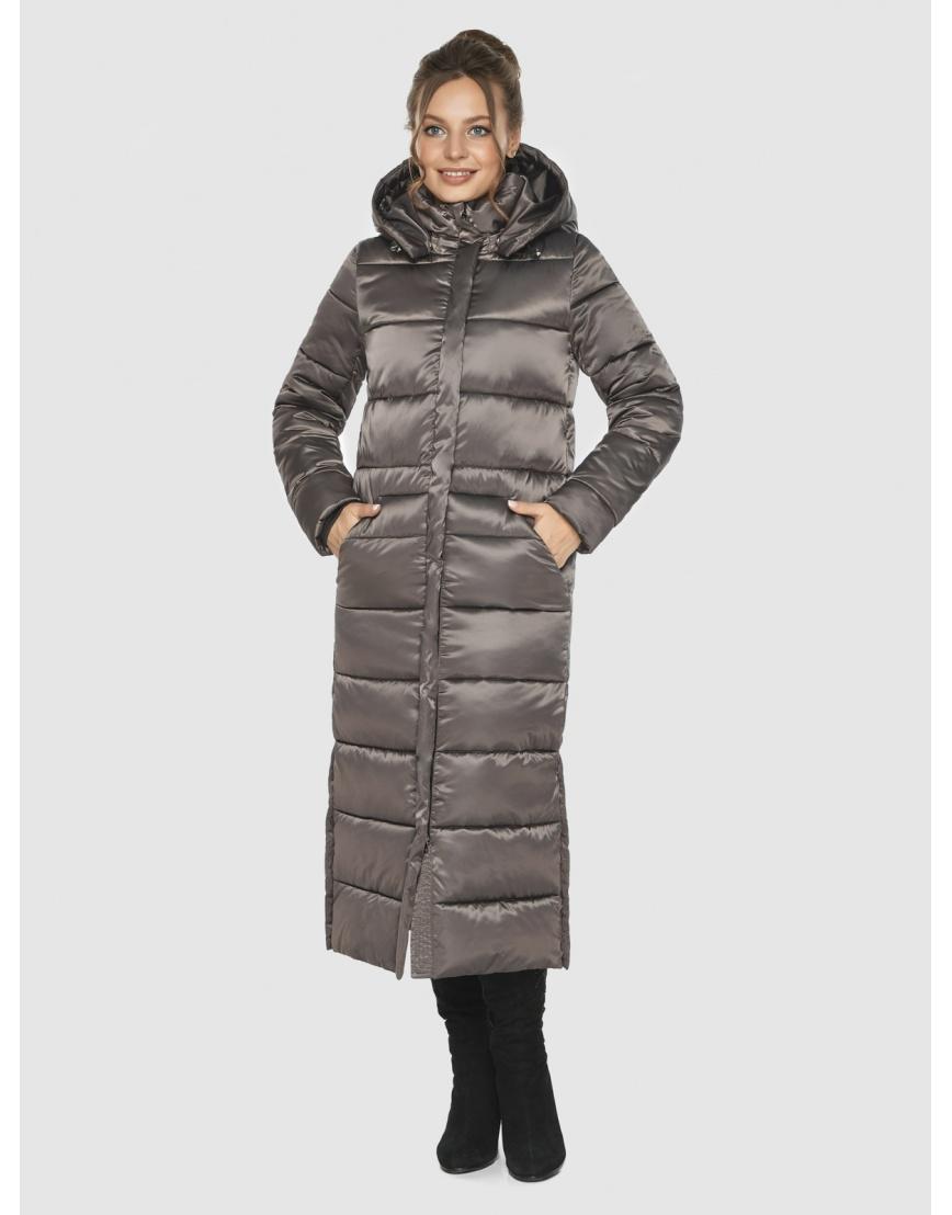Практичная зимняя куртка подростковая Ajento капучиновая 21207  фото 2