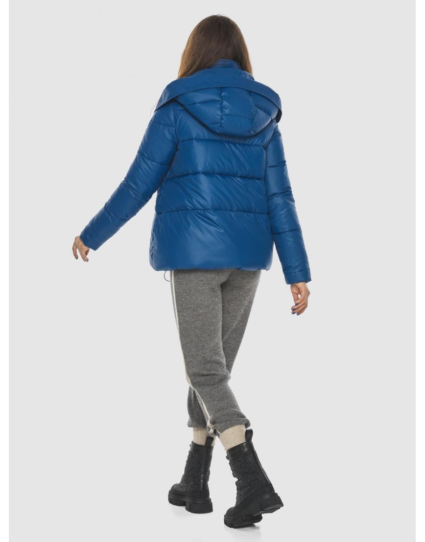 Брендовая короткая куртка женская Ajento синяя 23952 фото 4