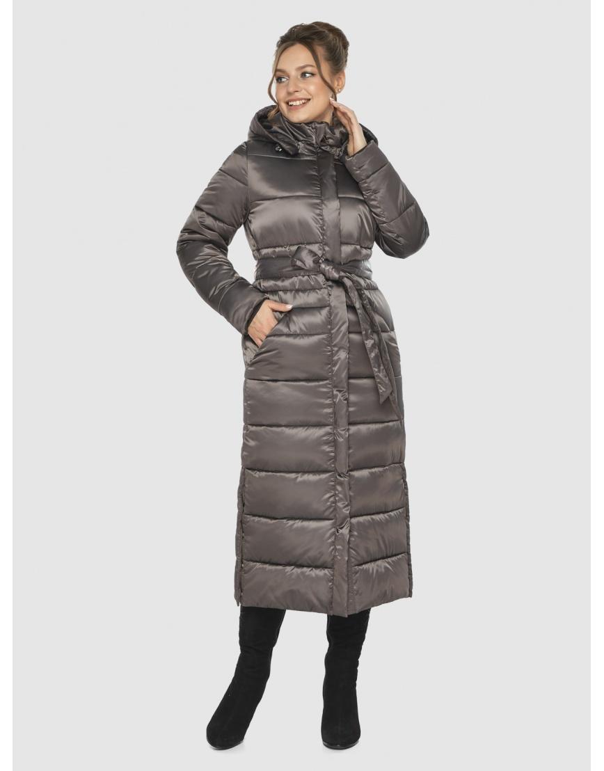 Практичная зимняя куртка подростковая Ajento капучиновая 21207  фото 6