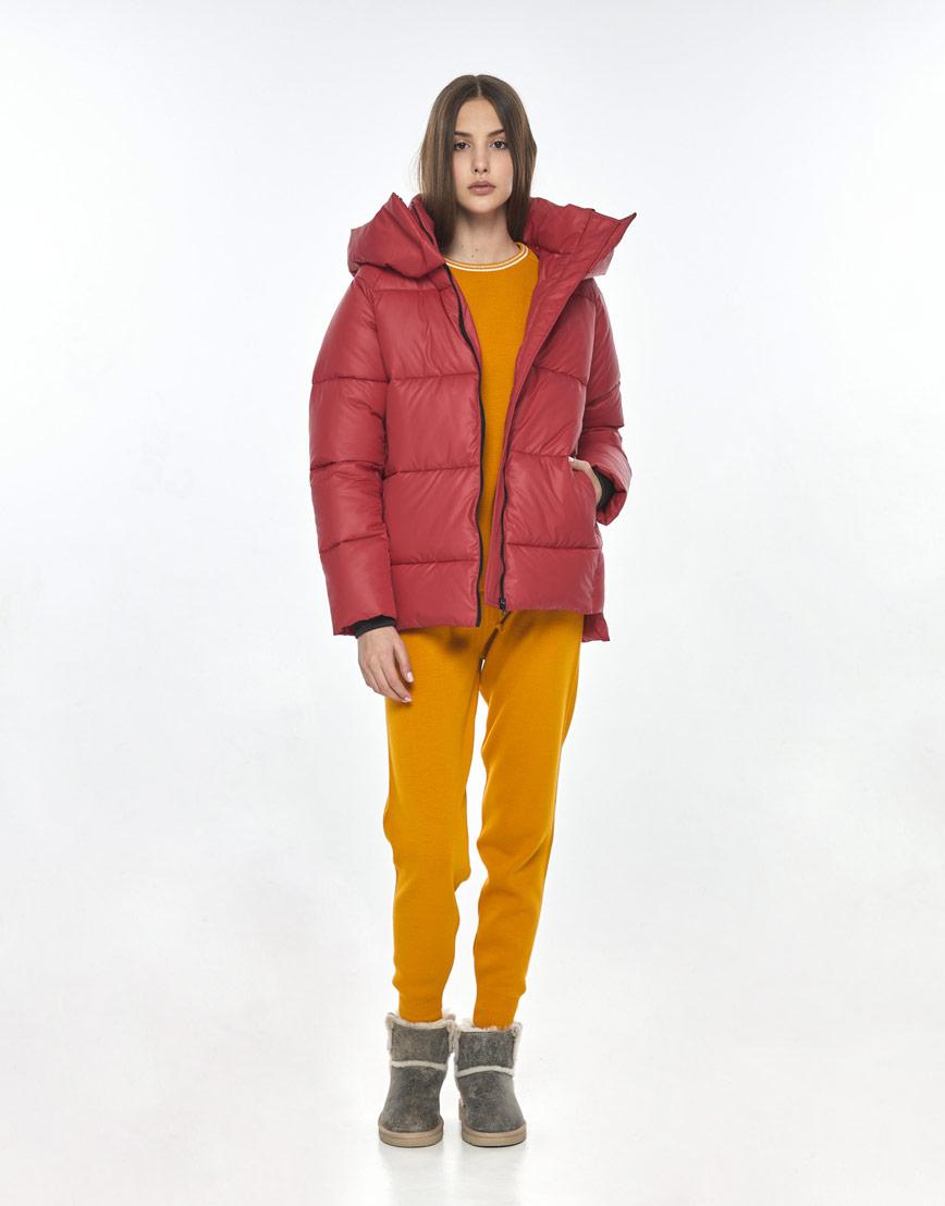 Короткая женская красная куртка Vivacana на осень 7354/21 фото 1