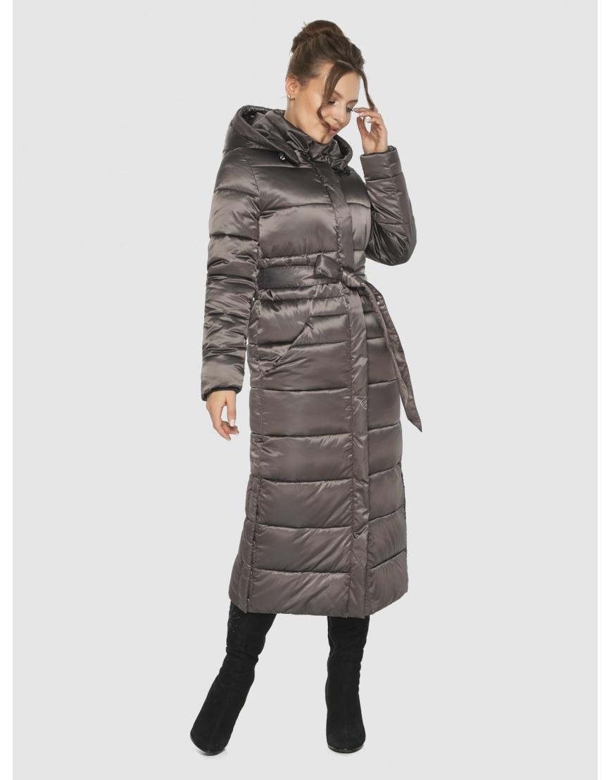Практичная зимняя куртка подростковая Ajento капучиновая 21207  фото 1
