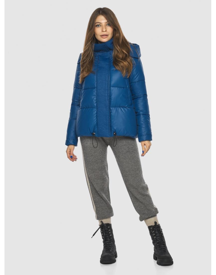 Брендовая короткая куртка женская Ajento синяя 23952 фото 1