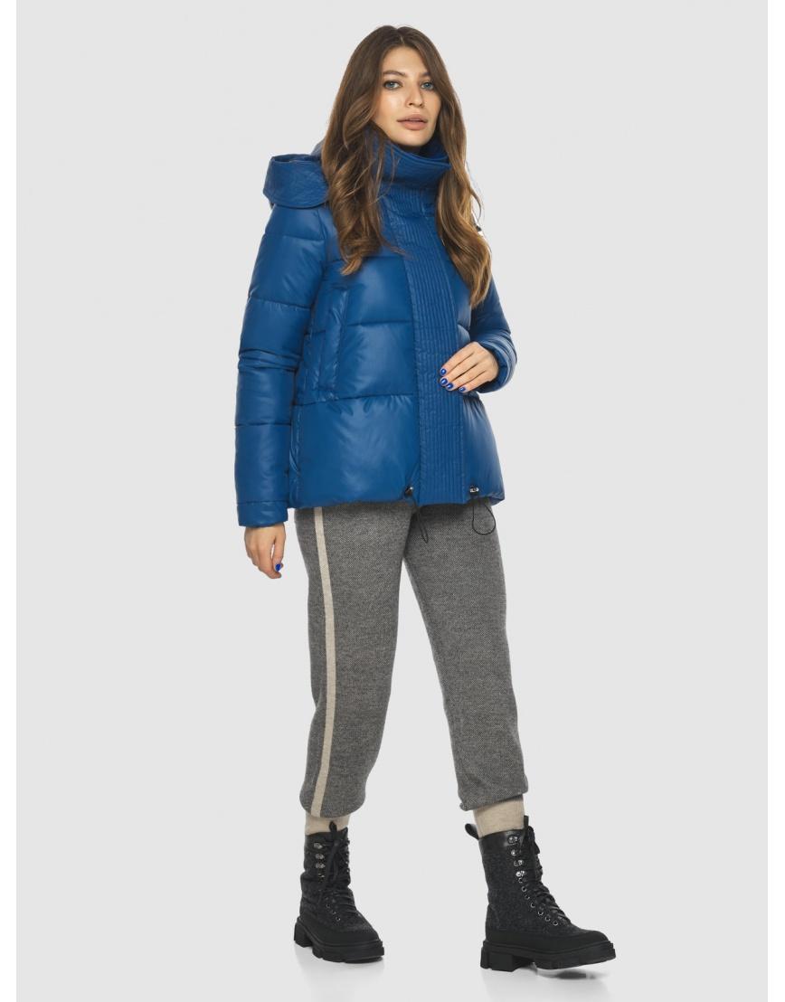 Брендовая короткая куртка женская Ajento синяя 23952 фото 5