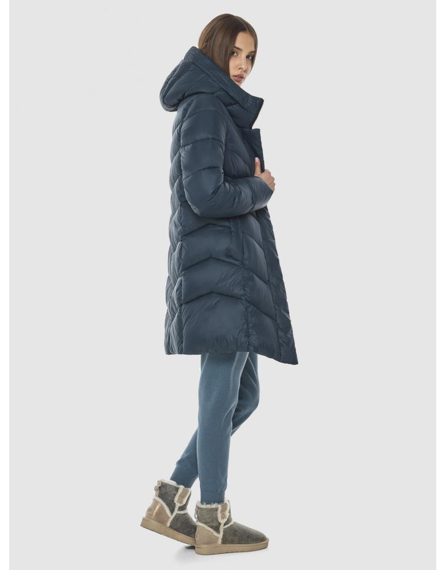 Женская куртка Vivacana средней длины синяя 7821/21 фото 3