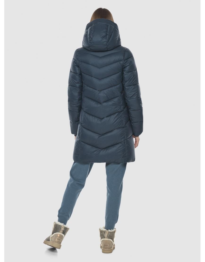 Женская куртка Vivacana средней длины синяя 7821/21 фото 4