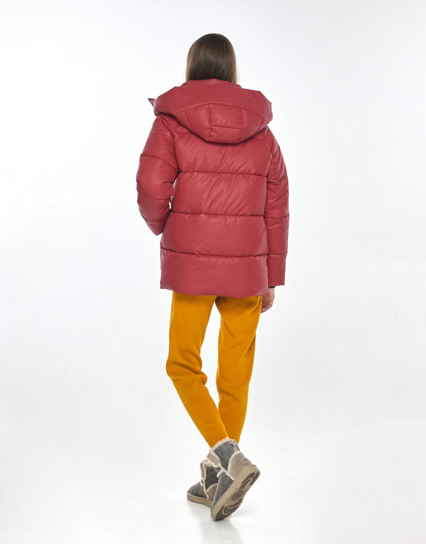 Короткая женская красная куртка Vivacana на осень 7354/21 фото 3