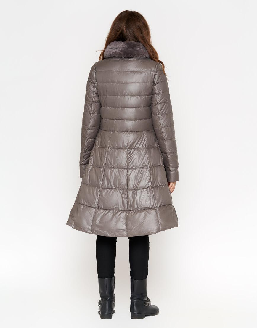 Серая куртка брендовая женская модель 7319 фото 3