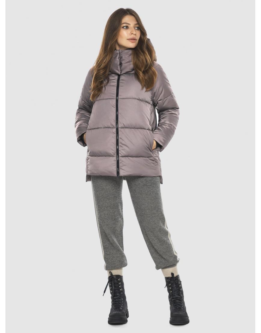 Стильная женская куртка Ajento цвет пудра 22430 фото 5
