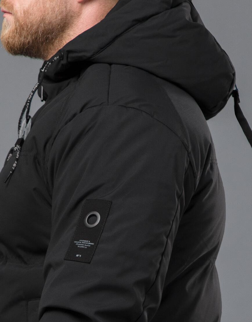 Черная куртка модная зимняя модель 70911 фото 7