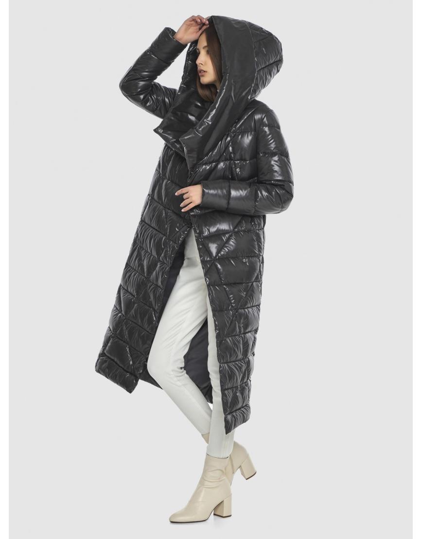 Трендовая женская куртка Vivacana серая 9470/21 фото 6