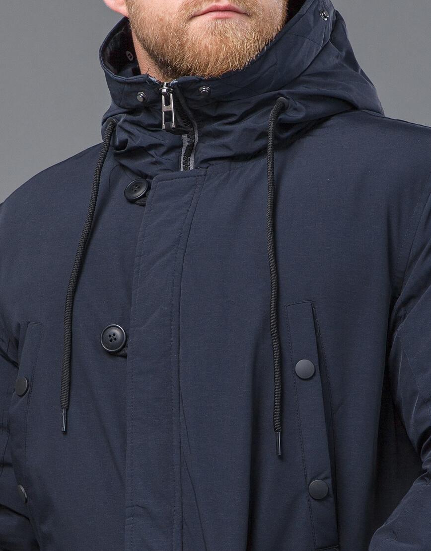 Оригинальная темно-синяя зимняя парка модель 54120 оптом