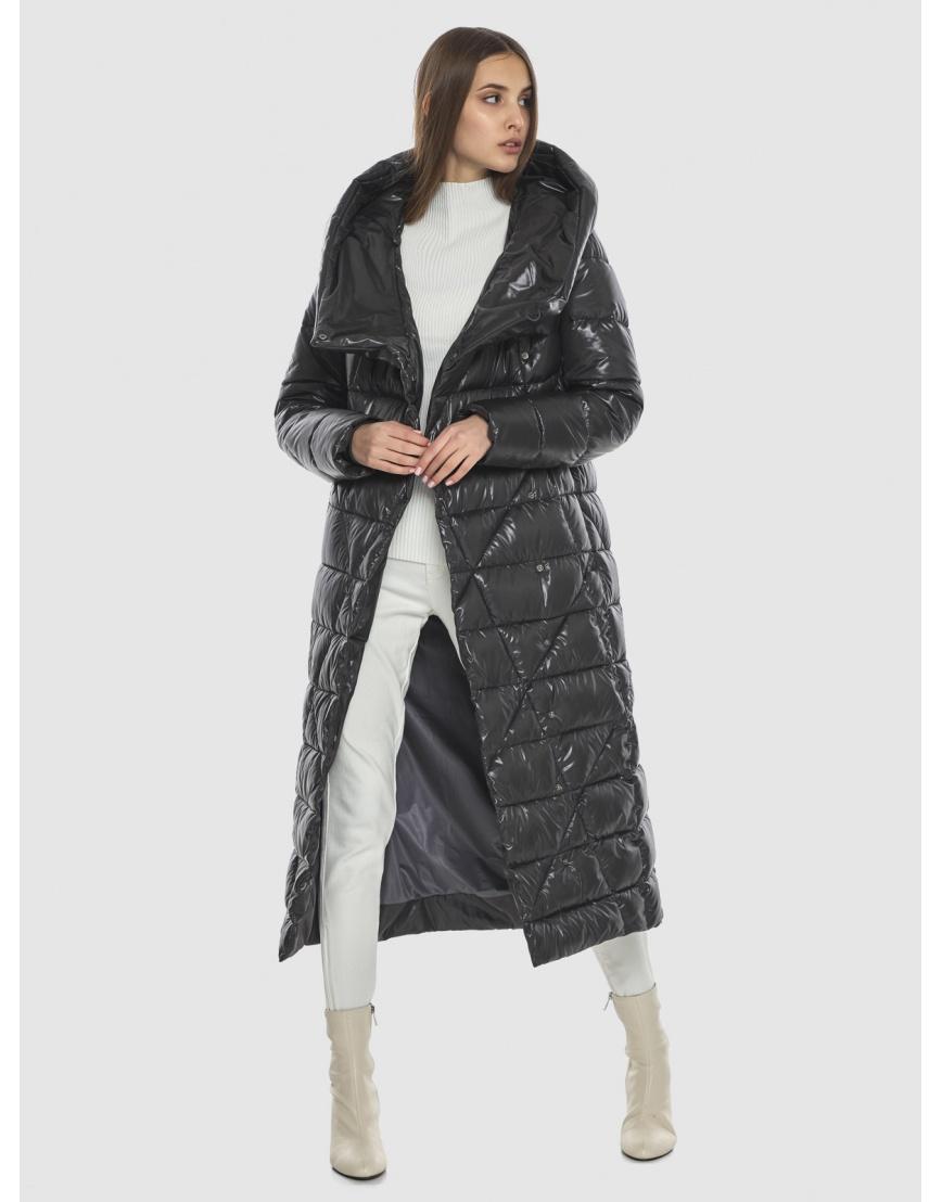 Трендовая женская куртка Vivacana серая 9470/21 фото 2