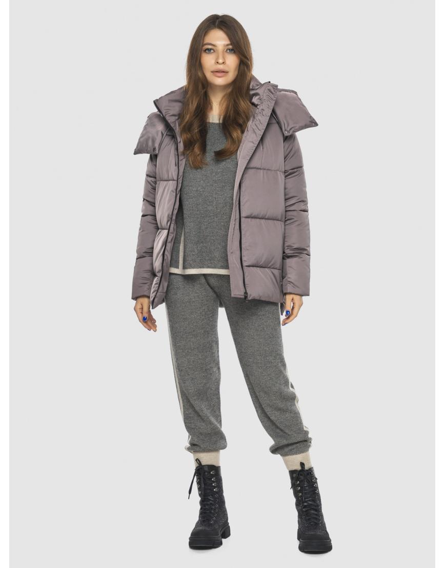 Стильная женская куртка Ajento цвет пудра 22430 фото 2