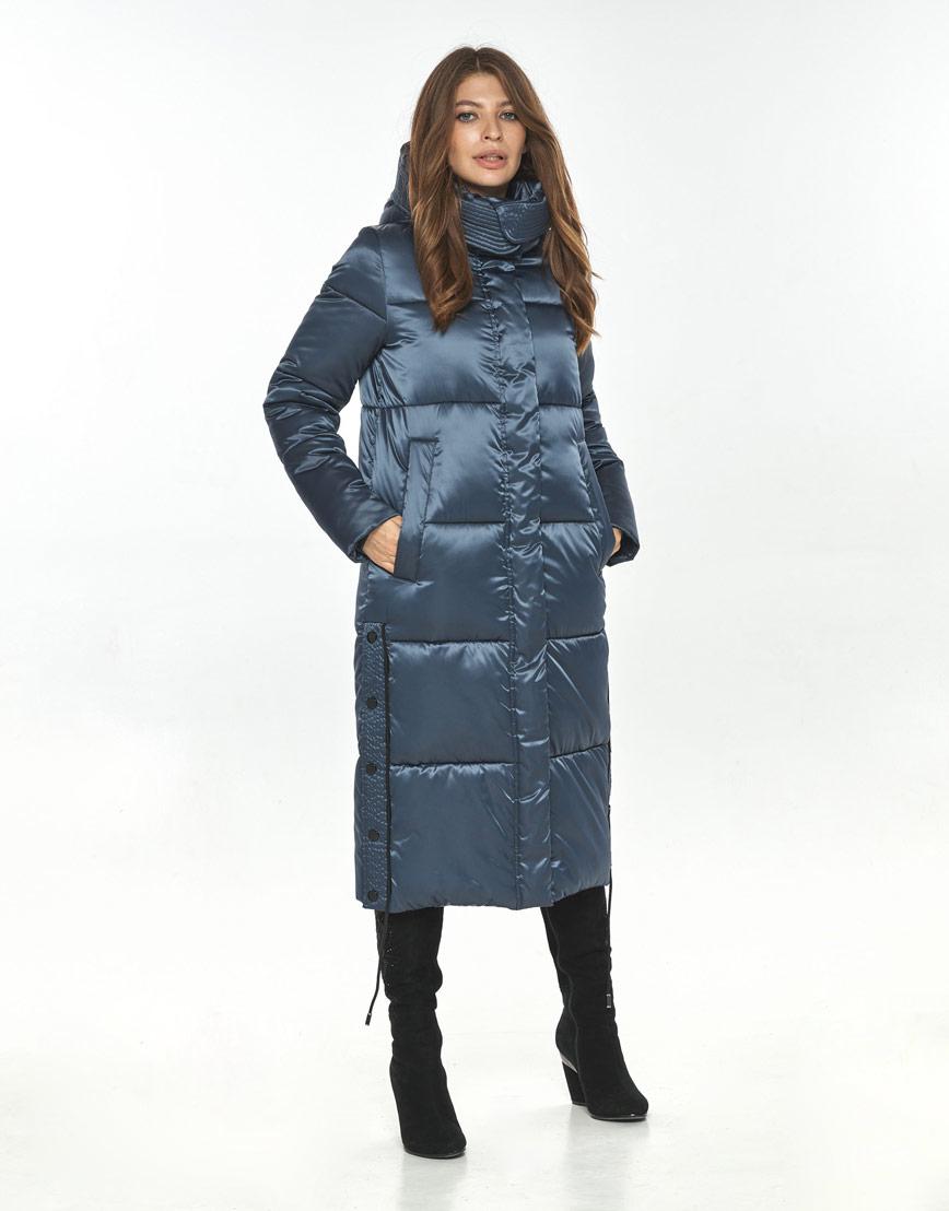 Зимняя куртка синяя женская Ajento стильная 23160 фото 1