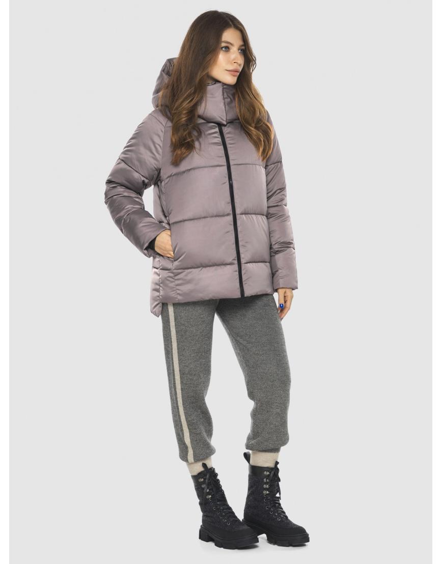 Стильная женская куртка Ajento цвет пудра 22430 фото 1
