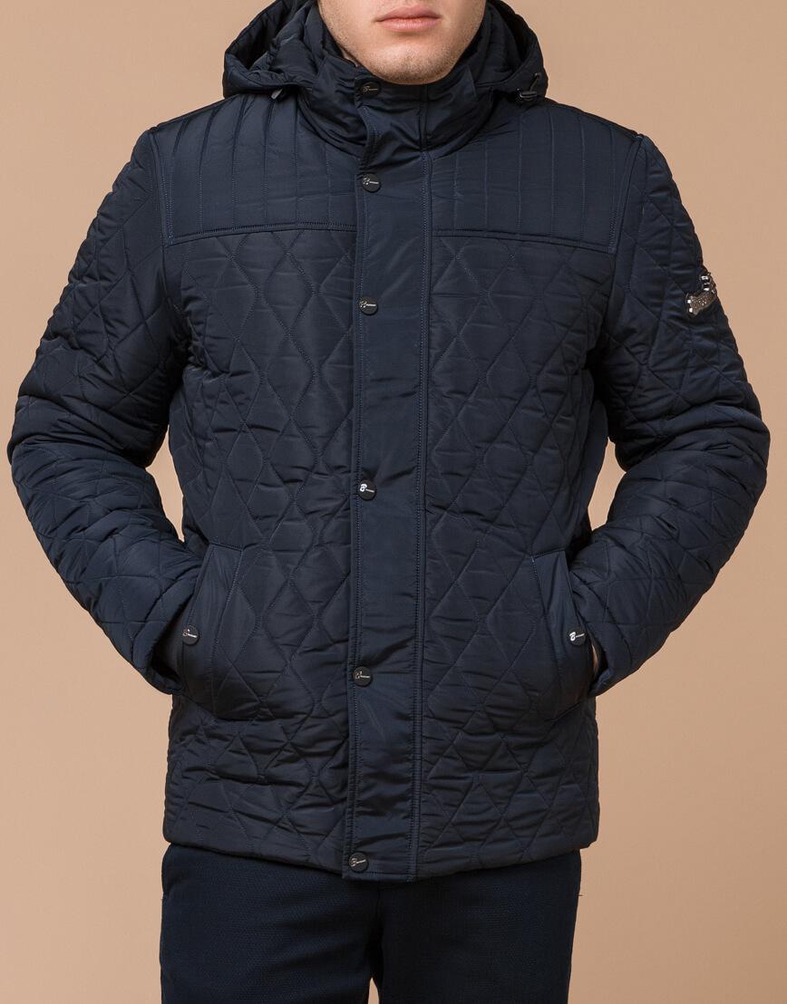 Куртка мужская зимняя синего цвета модель 24534 оптом фото 2