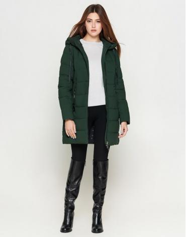 Брендовая куртка женская молодежная цвета хаки модель 25435